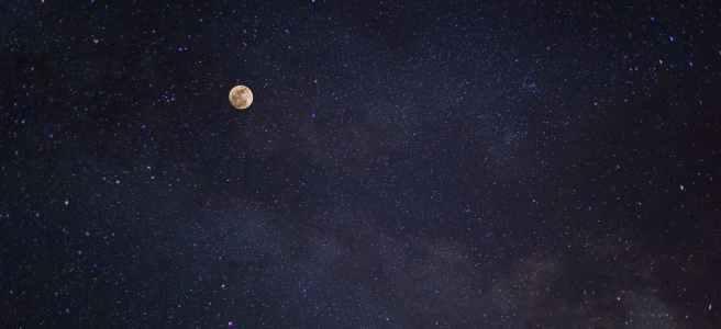 moon on a night sky